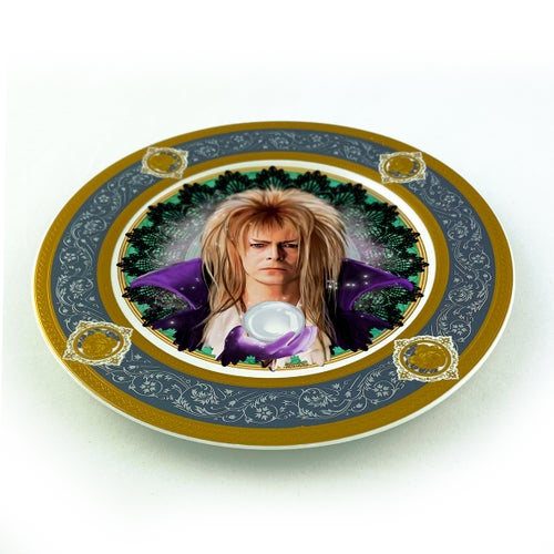 Image of Jareth the Goblin King - Labyrinth - Fine China Plate - #0788