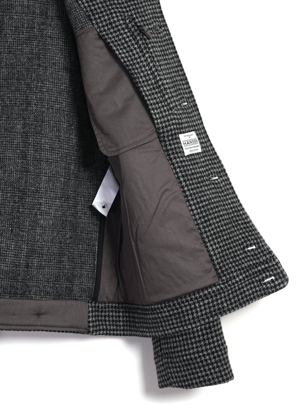 Hansen Garments | ATLAS | Short Wool Felt Jacket | pepper