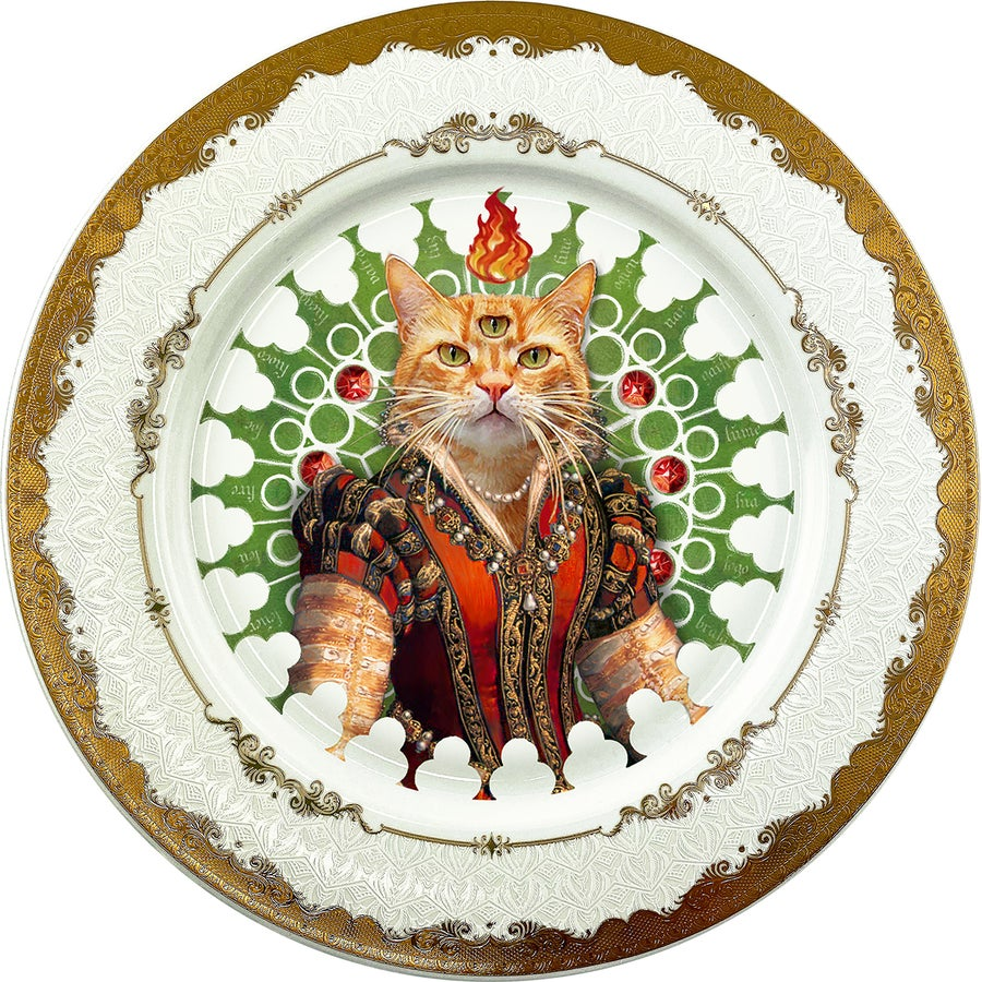 Image of Lady Red - Large Fine China Plate - #0772