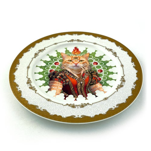Image of Lady Red - Fine China Plate - #0789