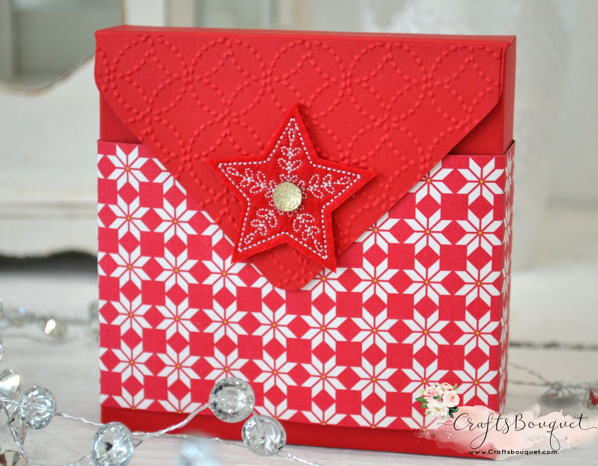 Image of QUILTED CHRISTMAS GIFT CARD HOLDER SET