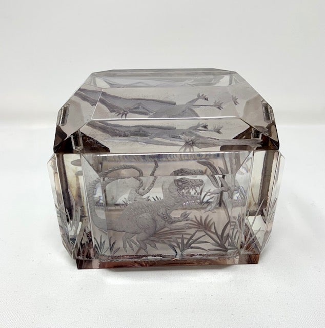 Image of Dinosaurs Lucite Box (with Pterodactyl Lid)