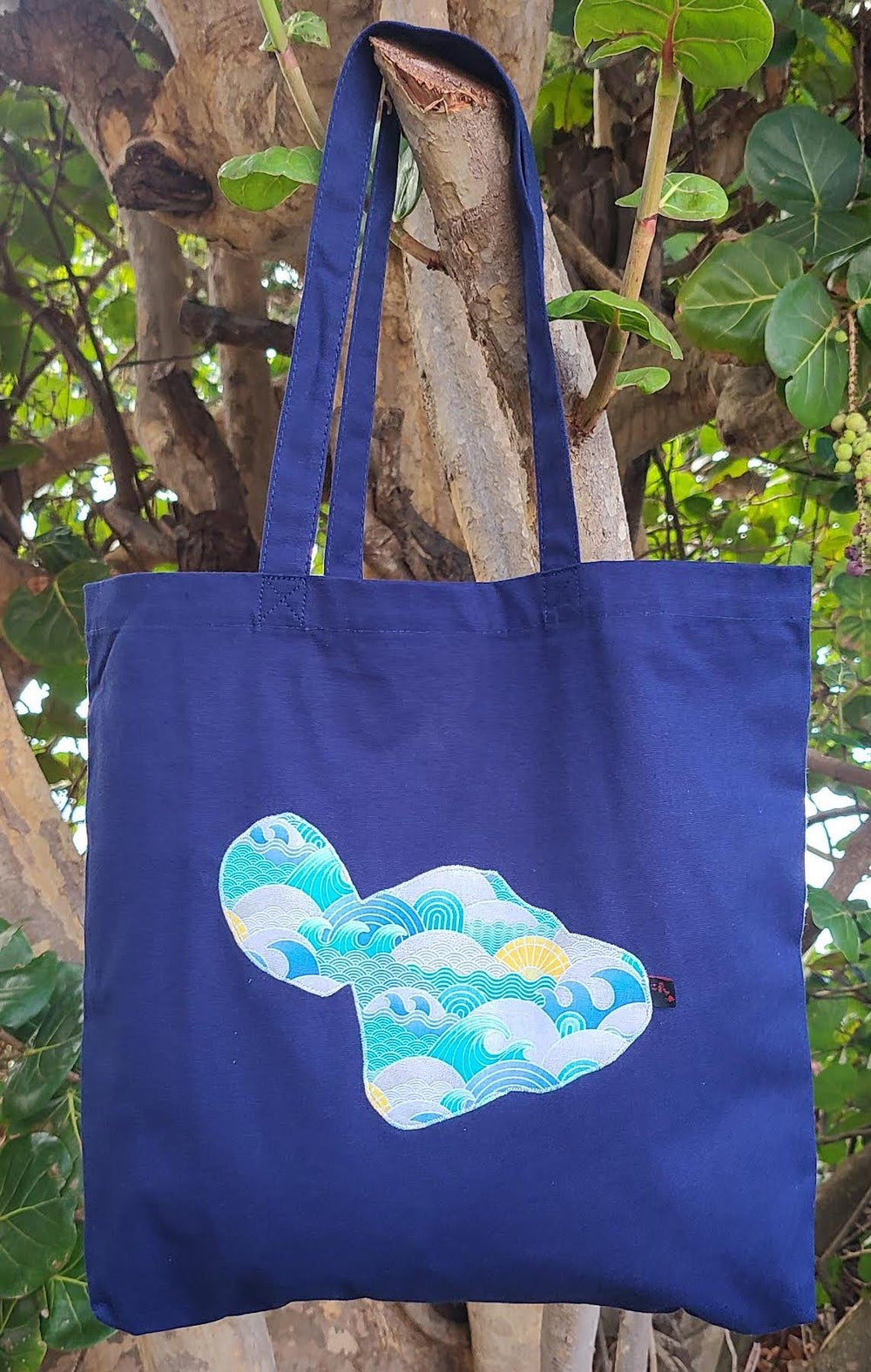 Image of Waves Maui Canvas Tote Bag