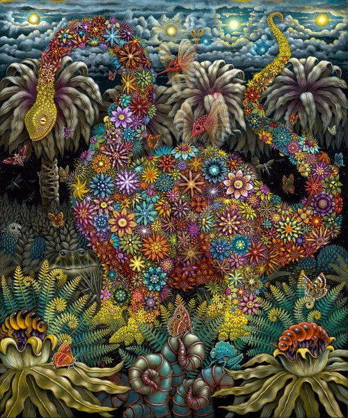 Image of Original framed Painting • MEGAFLORA