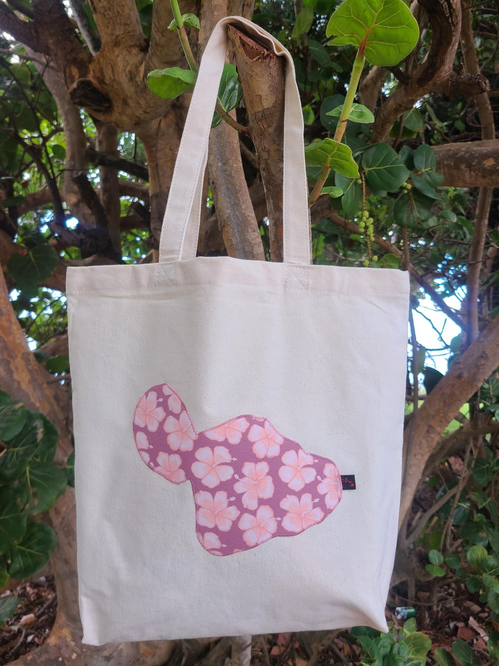 Image of Small Hibiscus Maui Canvas Tote Bag