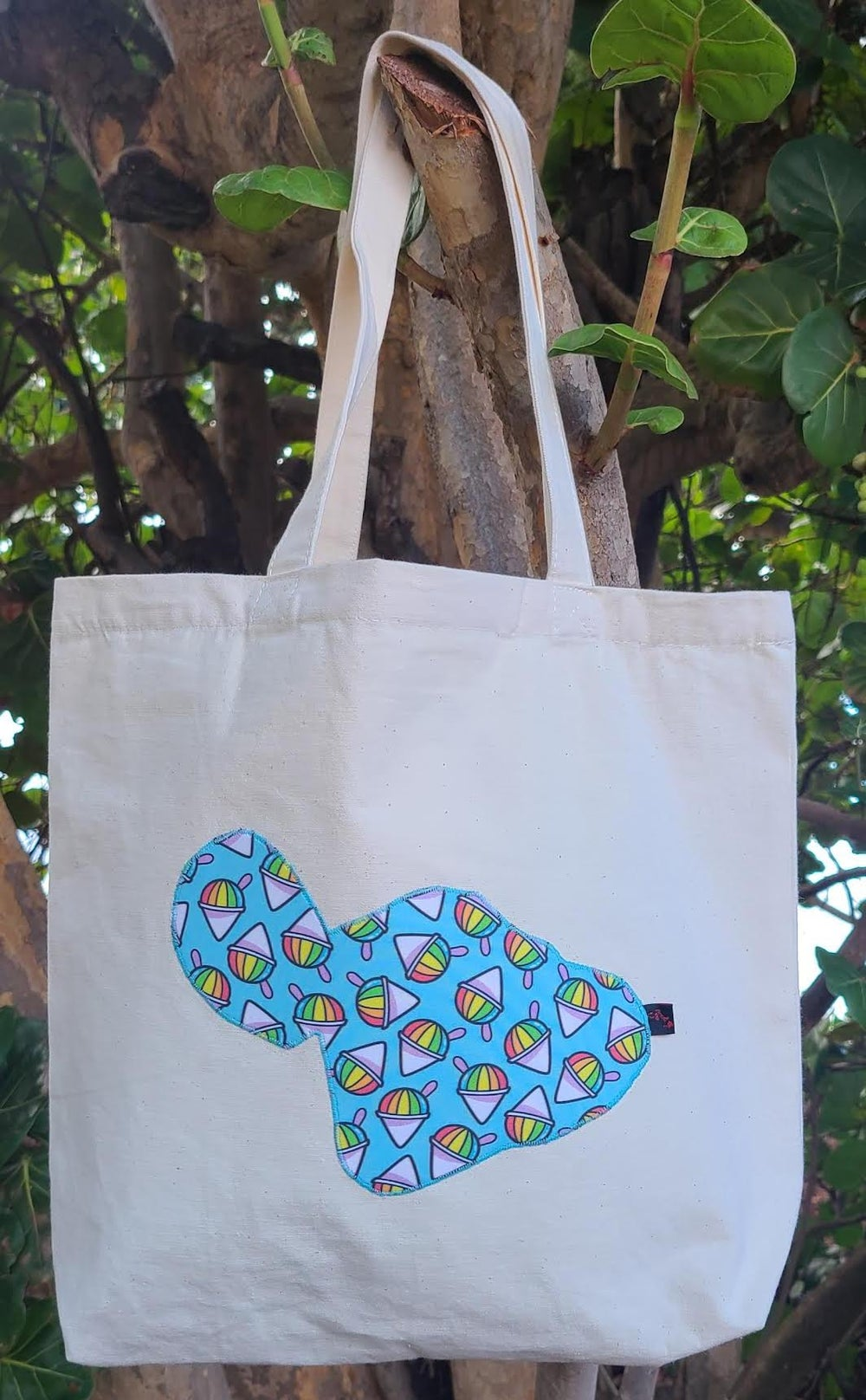Image of Shaved Ice Maui Canvas Tote Bag- Natural
