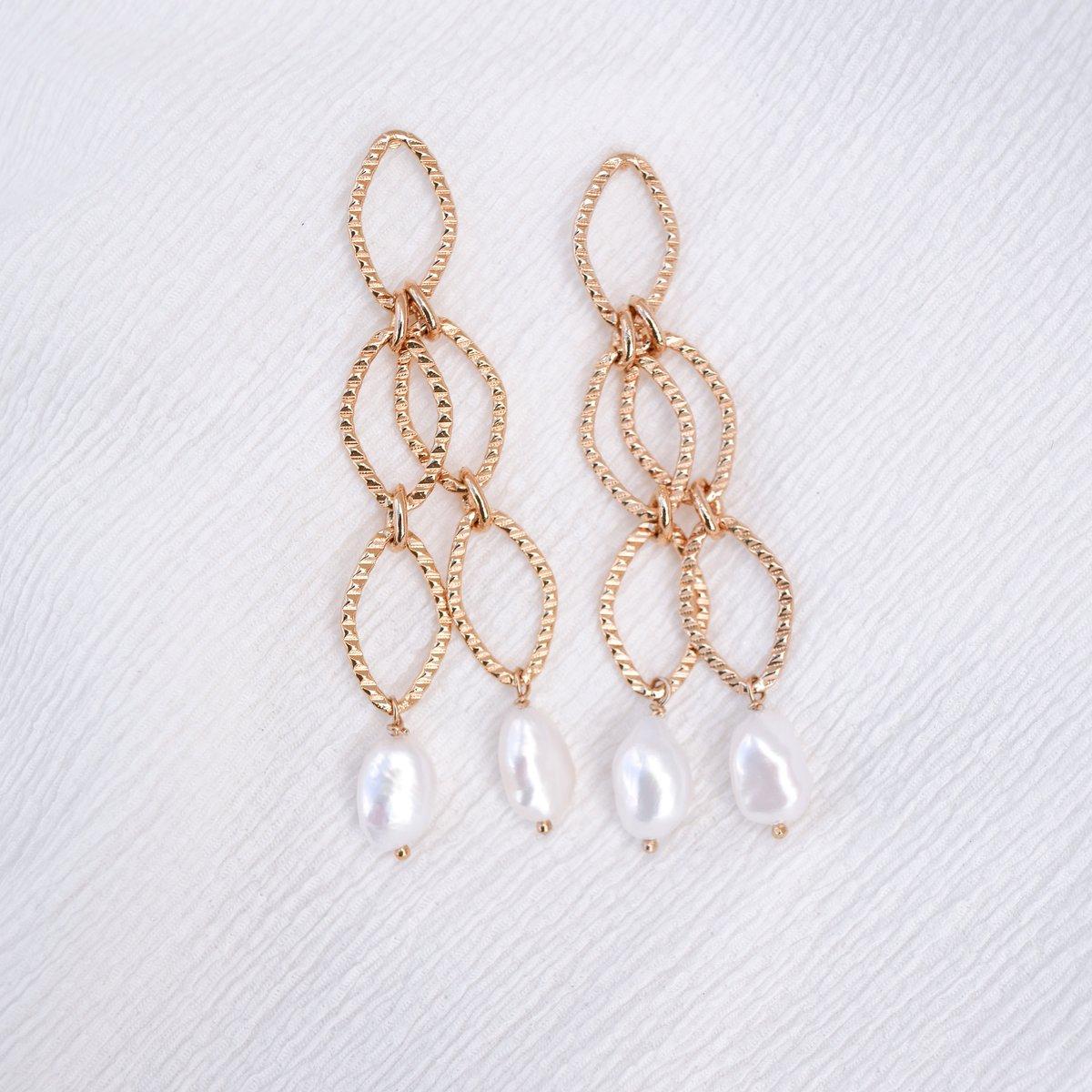 Image of Longues Boucles d'Oreilles LOVLA Doubles