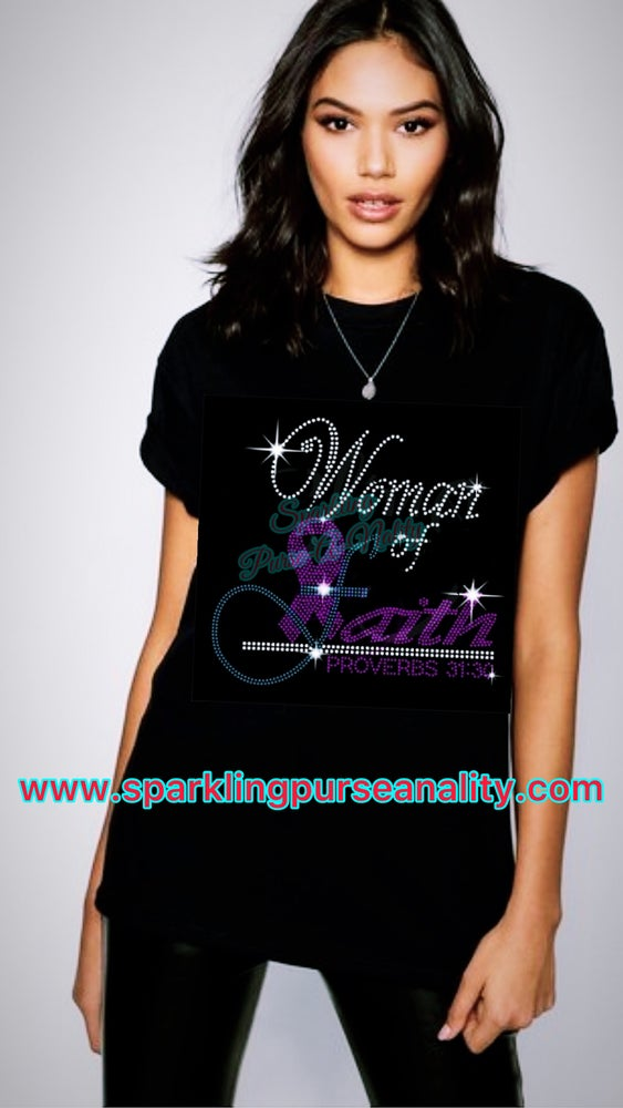 """Image of """"Sparkling"""" Woman of Faith Breast Cancer Awareness"""