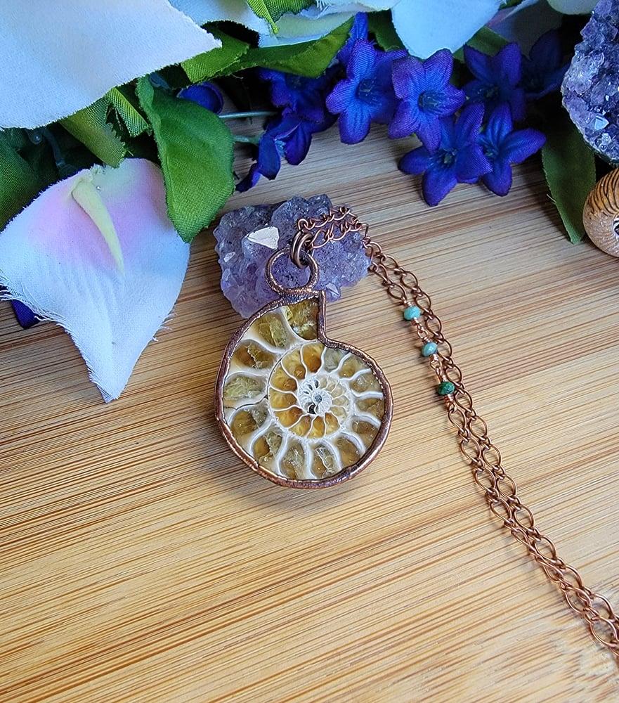Image of Ammonite Fossil Pendant #2
