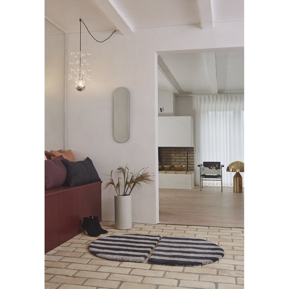 Image of Fomu striped semi-circle Rug by OYOY