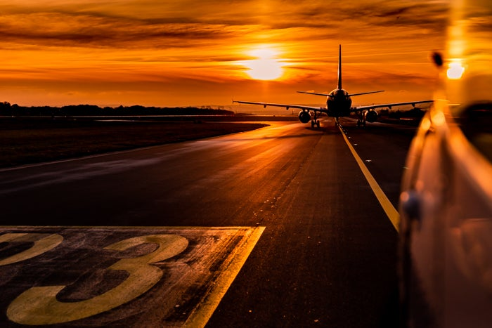 Image of Golden taxiway