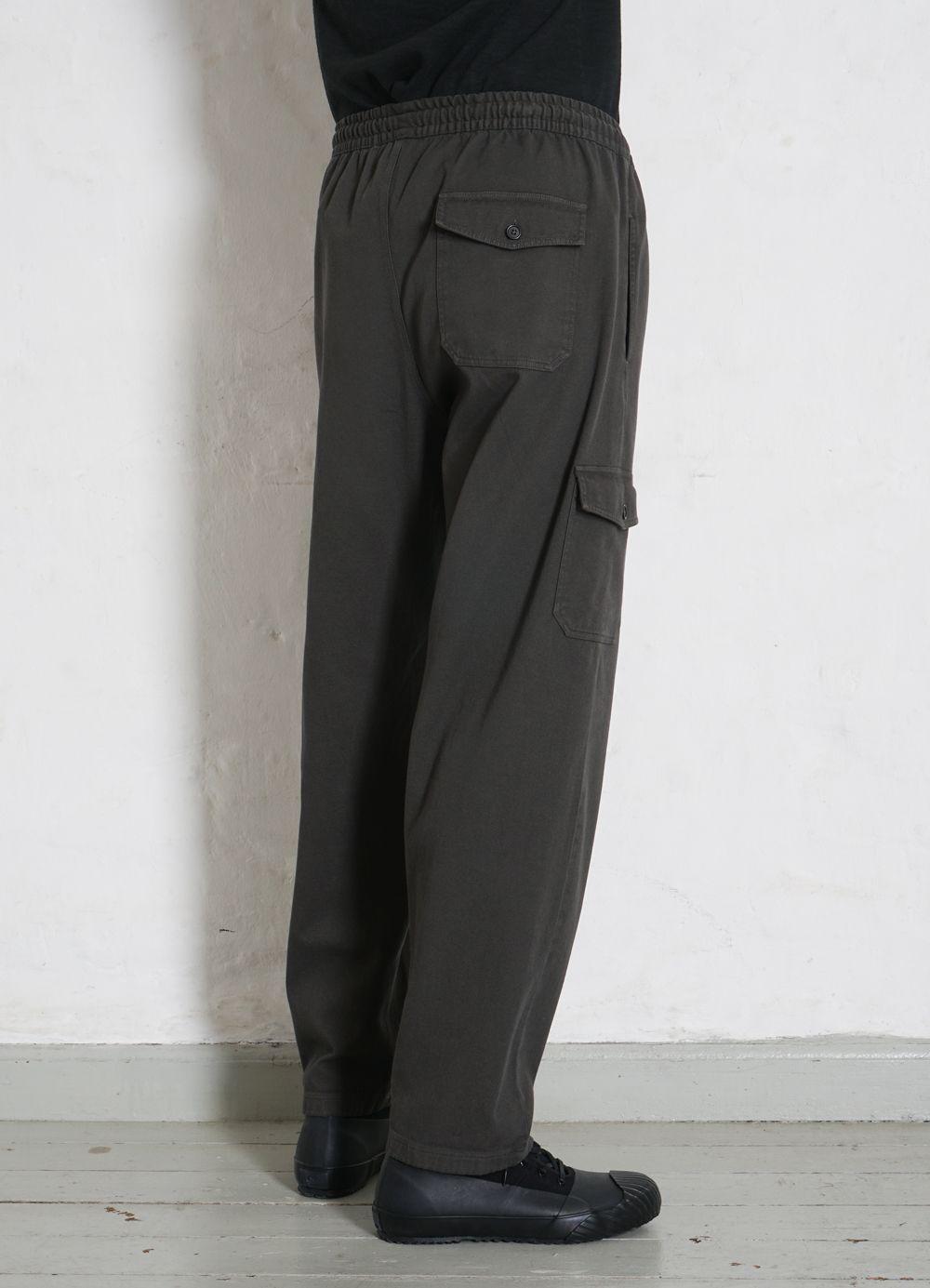 Hansen Garments JIMMY   Casual Cargo Drawstring Pants   light grey, dark forrest
