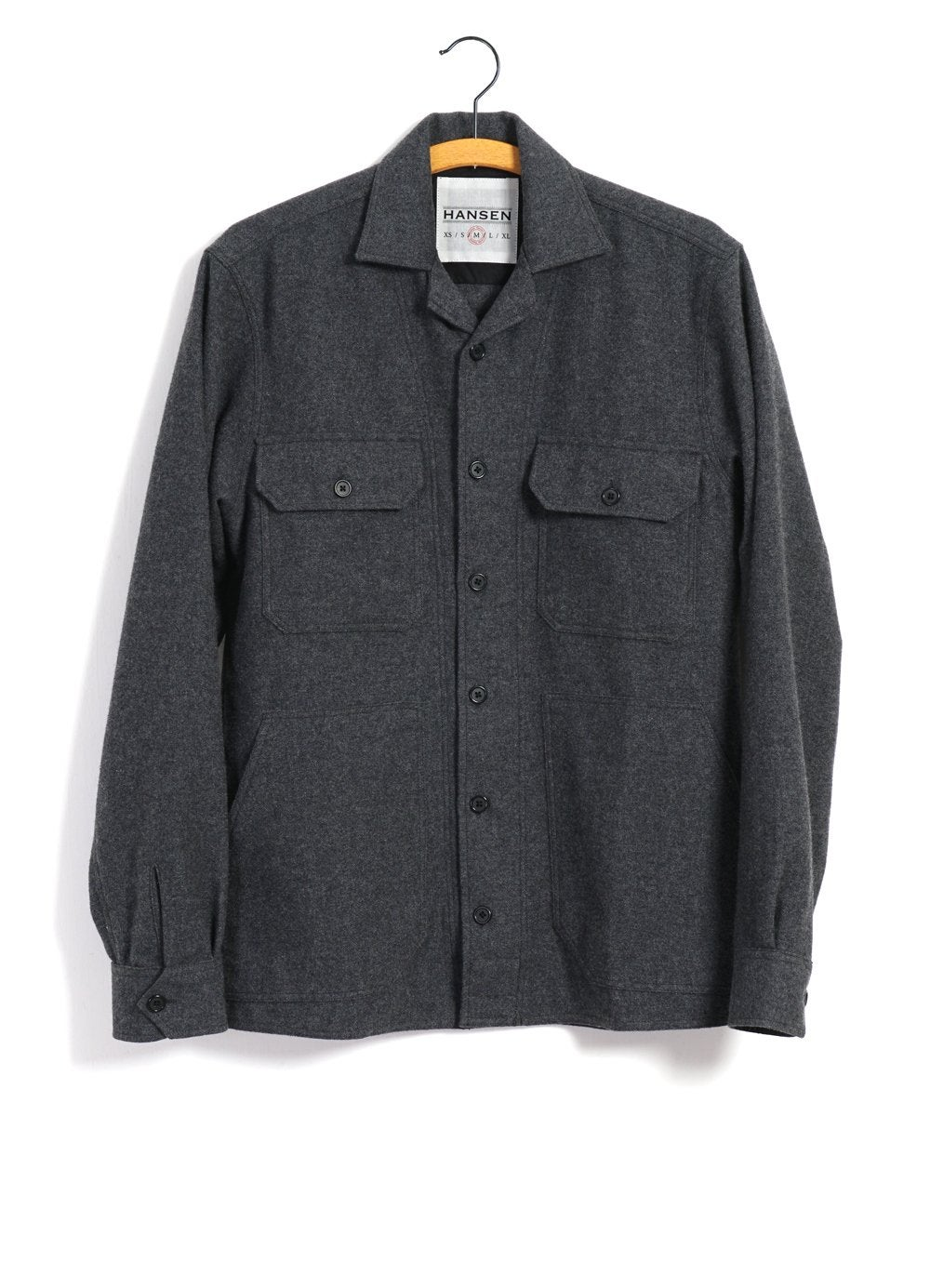 Hansen Garments STEFAN | Worker Over Shirt | grey melange