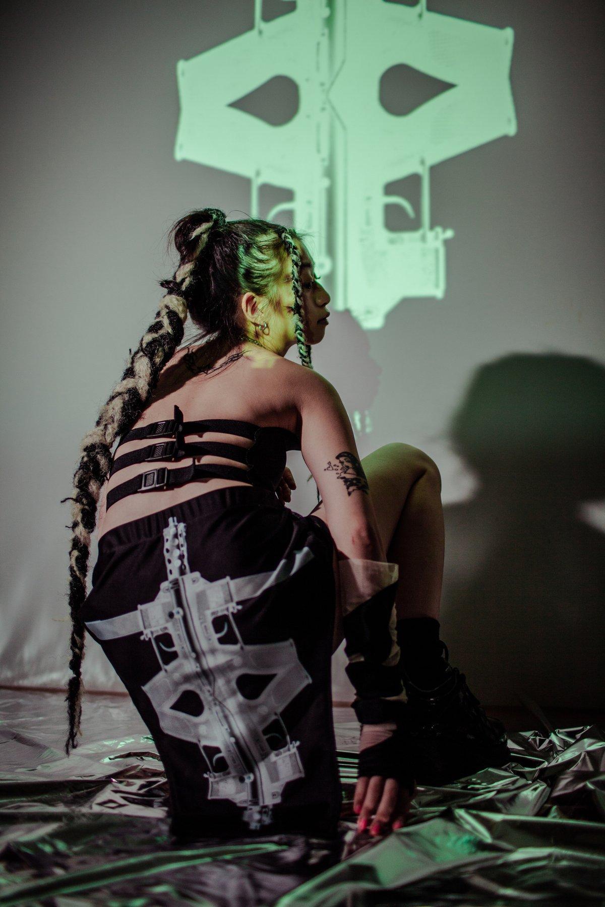 Image of TERROR VISION - Tech9cross' neoprene 2way corset