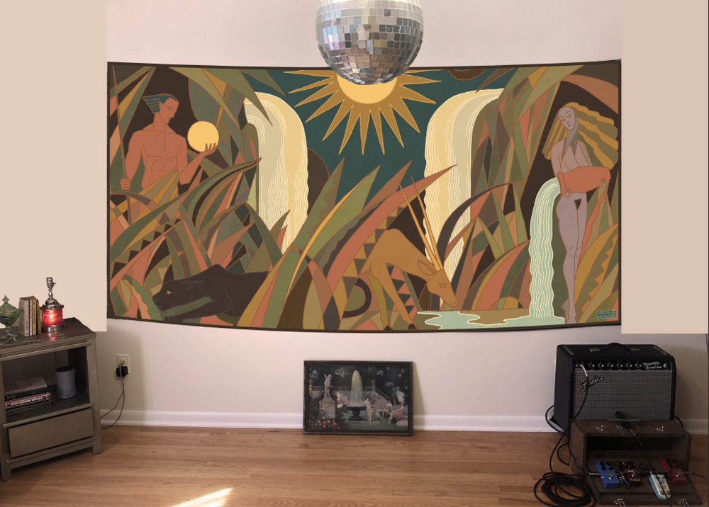 Image of Queen Mural - Tapestry PRE ORDER