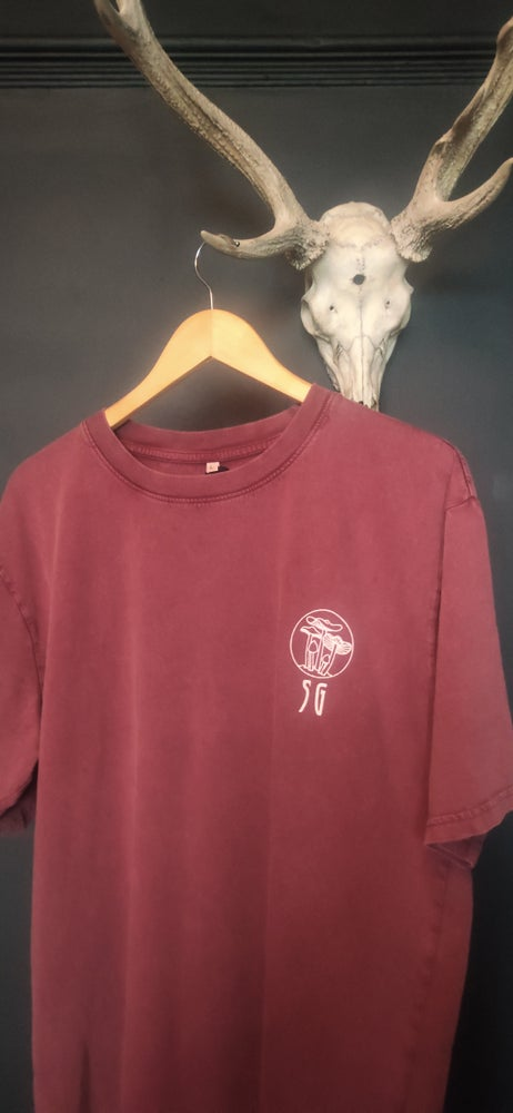 Image of Seafoam Green T Shirts LARGE MAROON