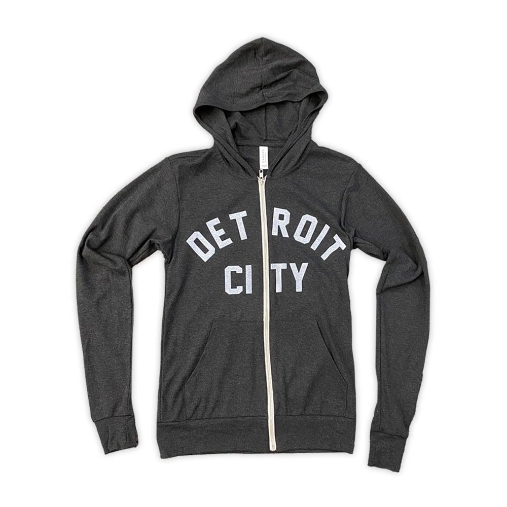Image of Detroit City Light-Weight Zip Hoodie (Charcoal)