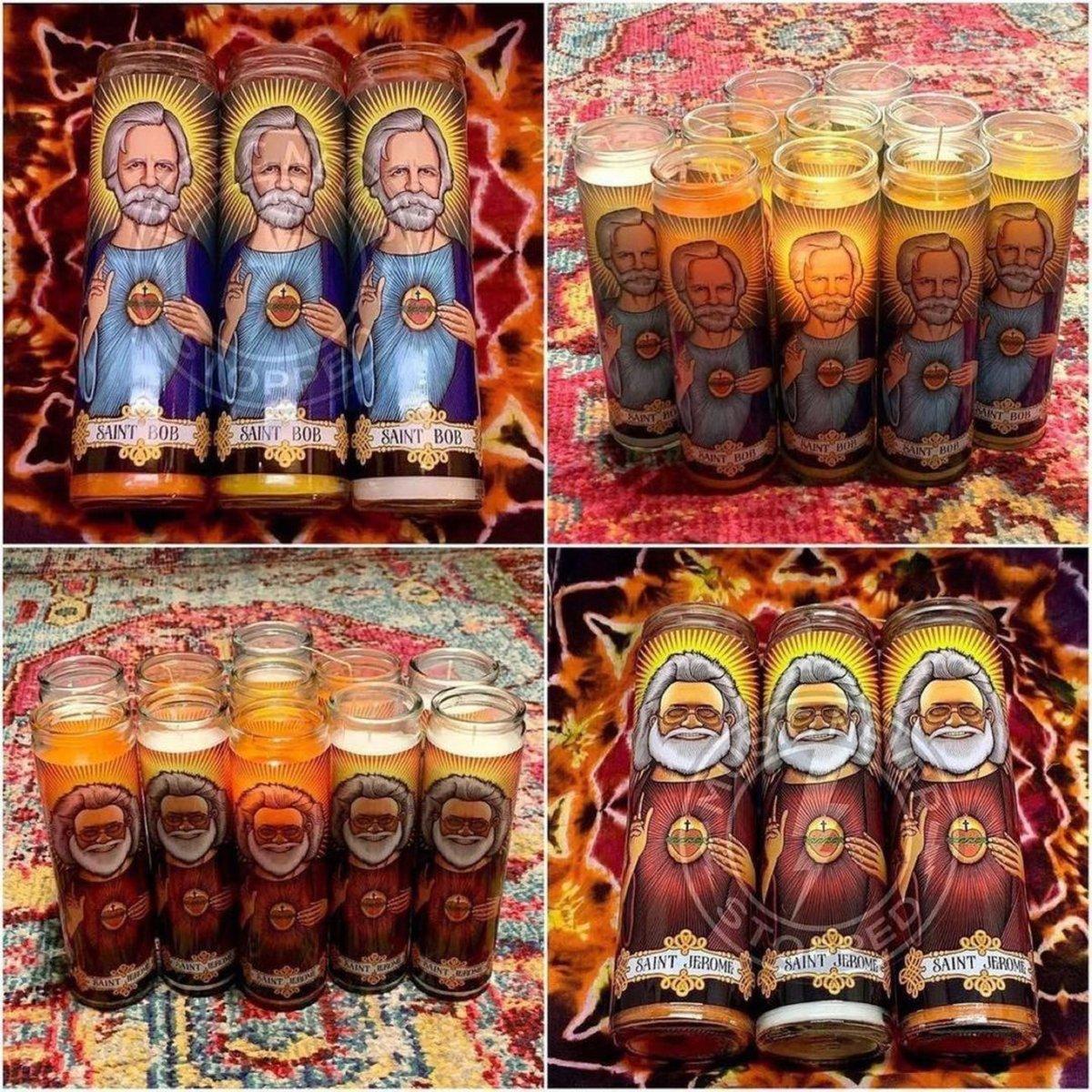 Saint Jerome & Saint Bob Prayer Candles!