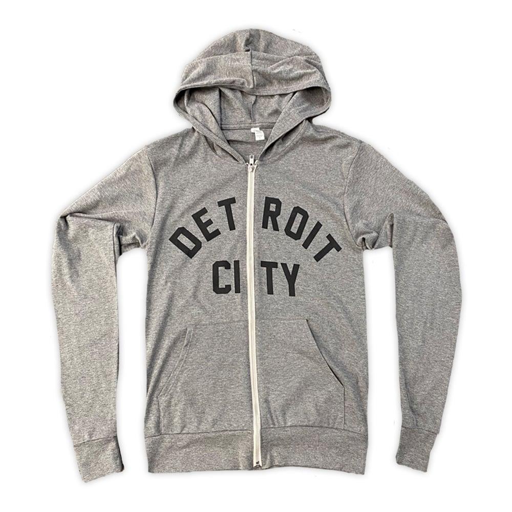 Image of Detroit City Light-Weight Zip Hoodie (Grey)