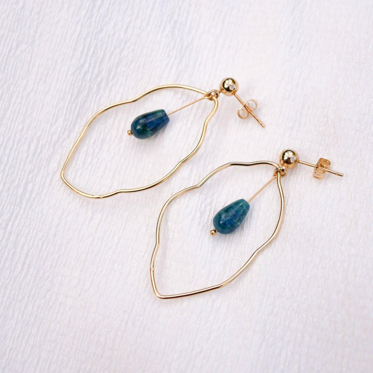 Image of Boucles d'Oreilles HARLOW BLUE