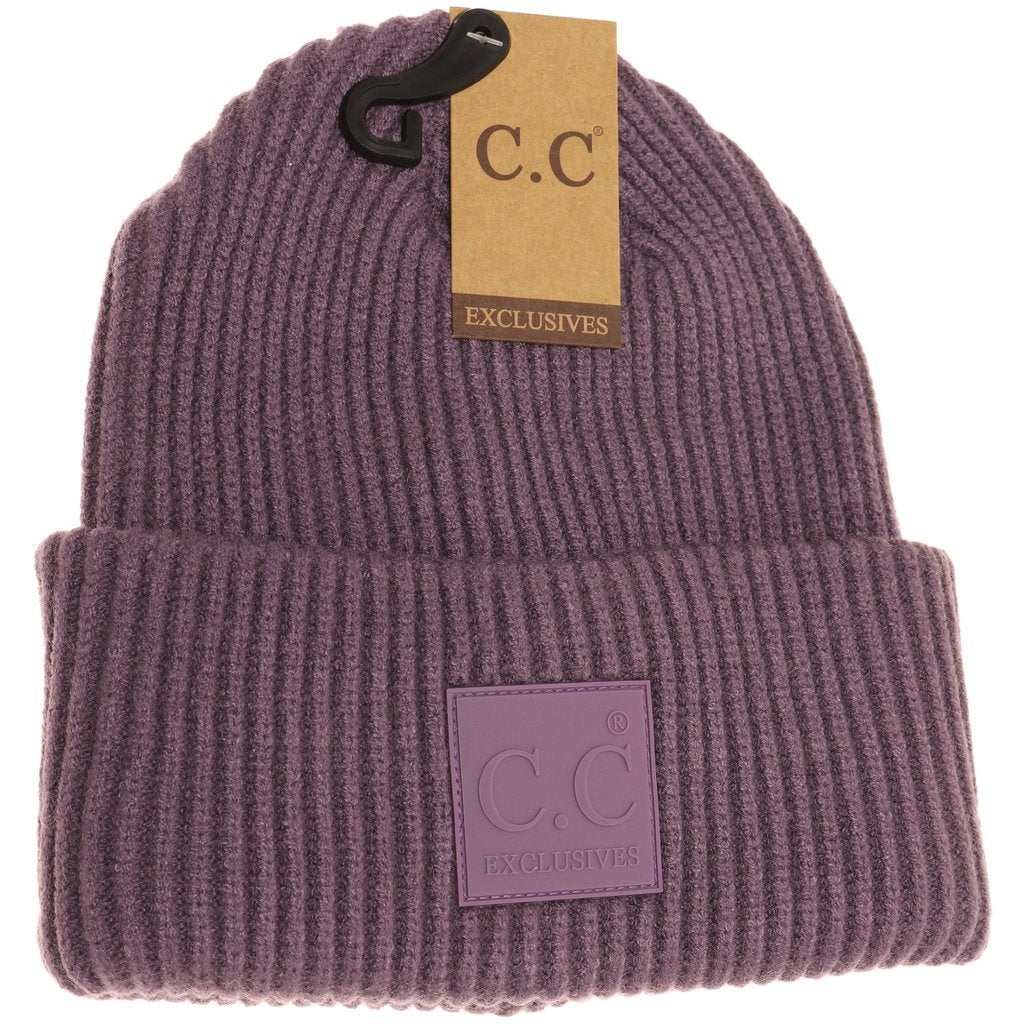 Image of Unisex Large Patch Beanie - 3 Colors