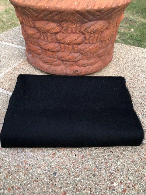 Image of Solid Black 100% Wool