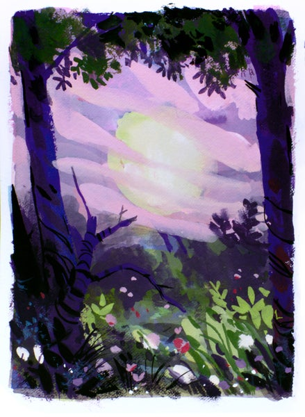 Image of Painting: Pink Sky A Warning