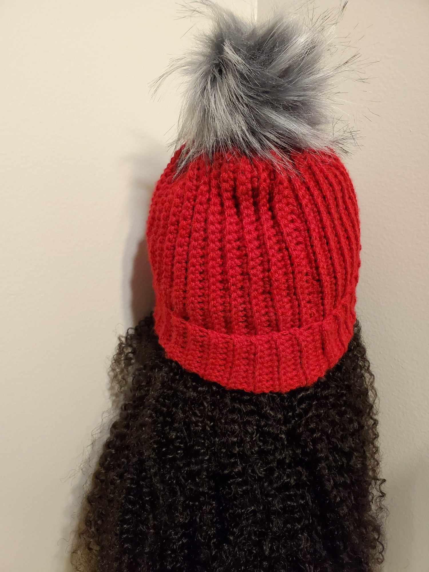Image of Blocked Fitted Ribbed Hat