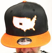 """Image of BROTHERS BOARDS """"OUR STATE"""" NEW ERA HAT BLK/ORANGE"""