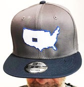 """Image of BROTHERS BOARDS """"OUR STATE"""" NEW ERA GRY/BLUE"""