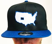 """Image of BROTHERS BOARDS """"OUR STATE"""" NEW ERA HAT BLK/BLUE"""