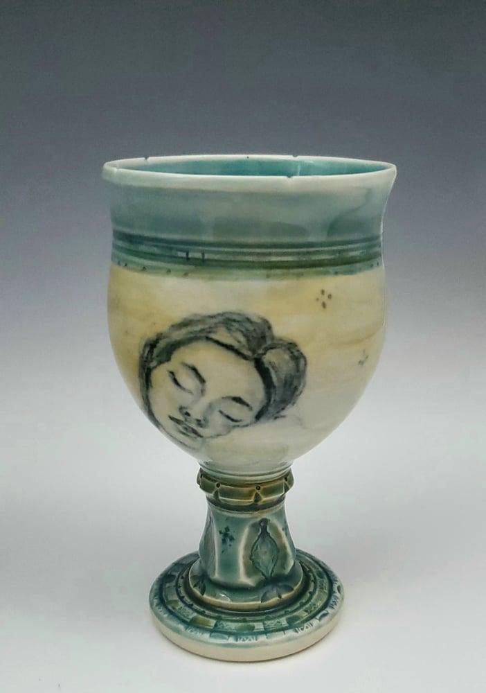 Image of Sleeping Beauty Awakening  Porcelain Chalice