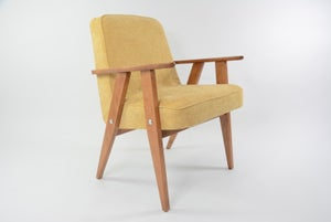 Image of Fauteuil type 366 jaune pale