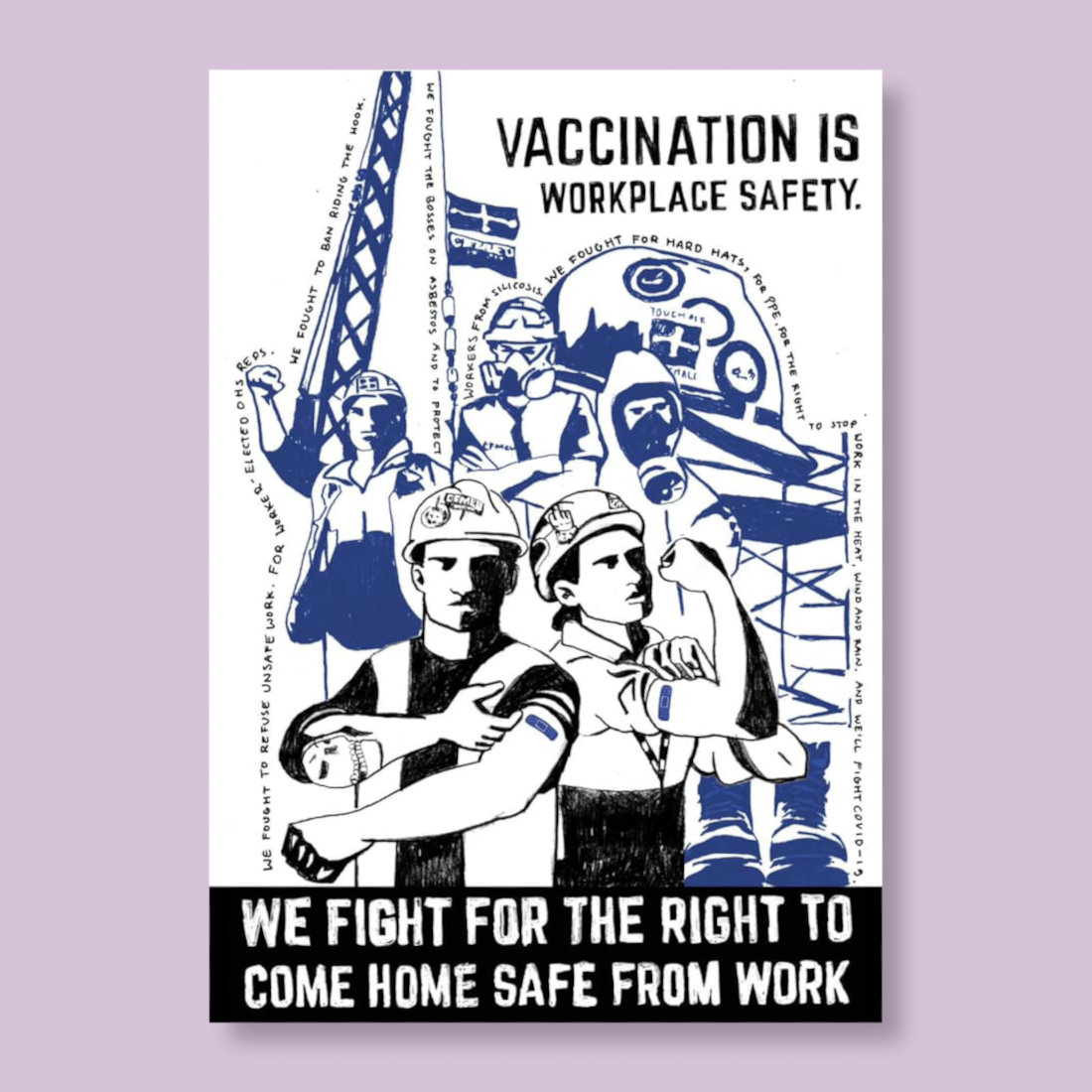 Image of 'Vaccination is Workplace Safety' RISO print (One print) (LIMITED)
