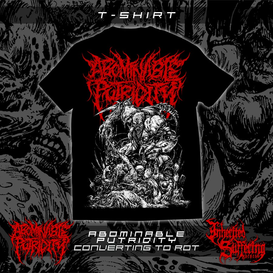 Image of Abominable Putridity - Converting To Rot - Red Logo - T-Shirt
