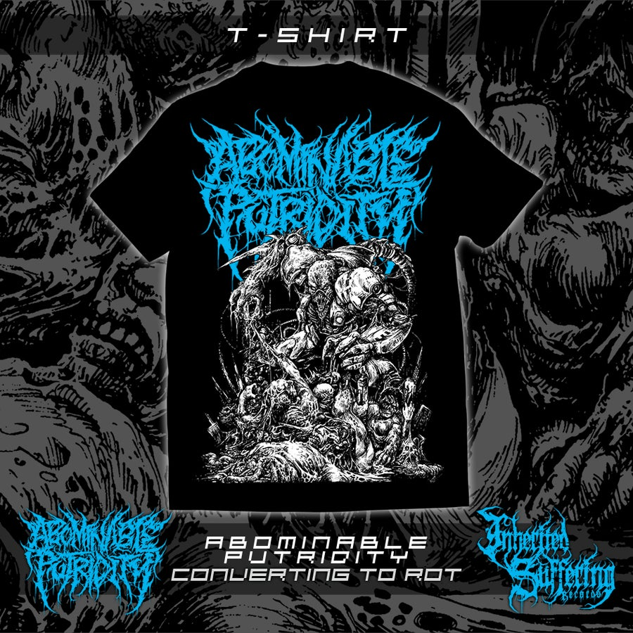 Image of Abominable Putridity - Converting To Rot - Blue Logo - T-Shirt
