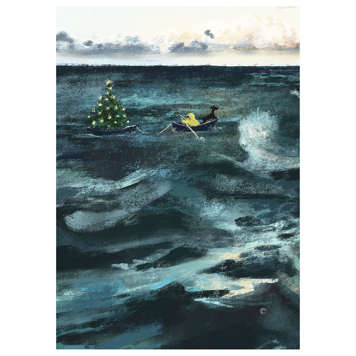 Image of *PREORDER* 'Christmas at Sea' Luxury Christmas Cards (single or multipack)