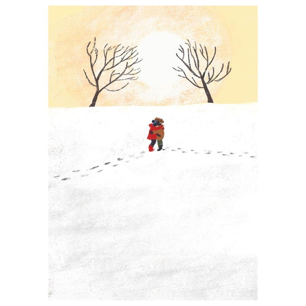 Image of *PREORDER* 'Winter Hug' Luxury Greetings Card (single or multipack)