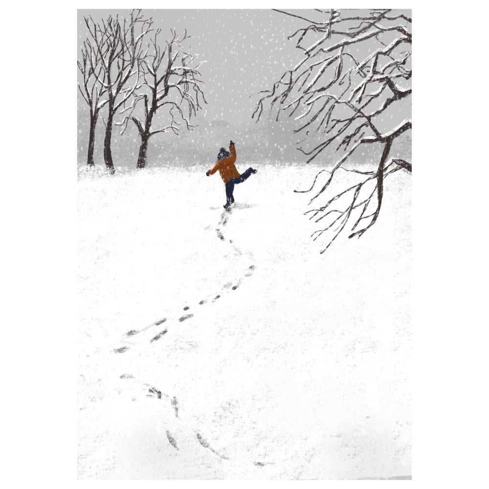 Image of *PREORDER* 'Bring me Snowflakes' Luxury Christmas Card (single or multipack)