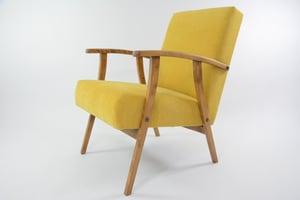 Image of Fauteuil courbé jaune