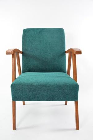 Image of Fauteuil courbé vert