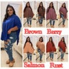 PLUS SIZE V-FRONT PONCHO TOP