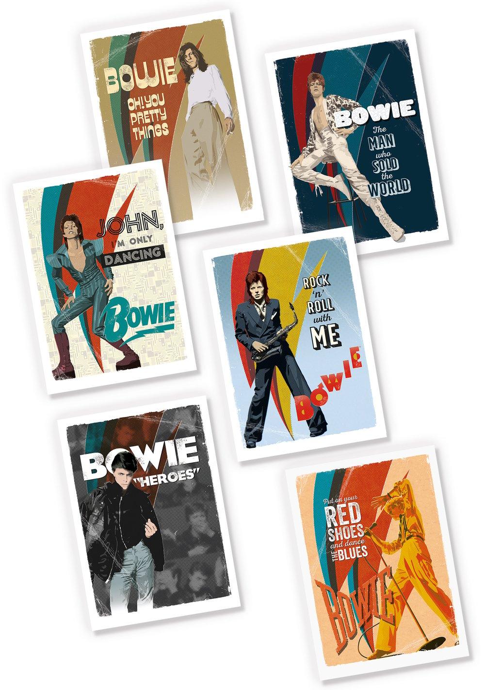 David Bowie Greetings Cards + Postcards Set