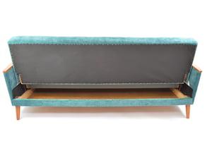 Image of Canapé convertible bleu canard