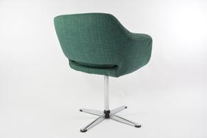 Image of Chaise de bureau tulipe verte