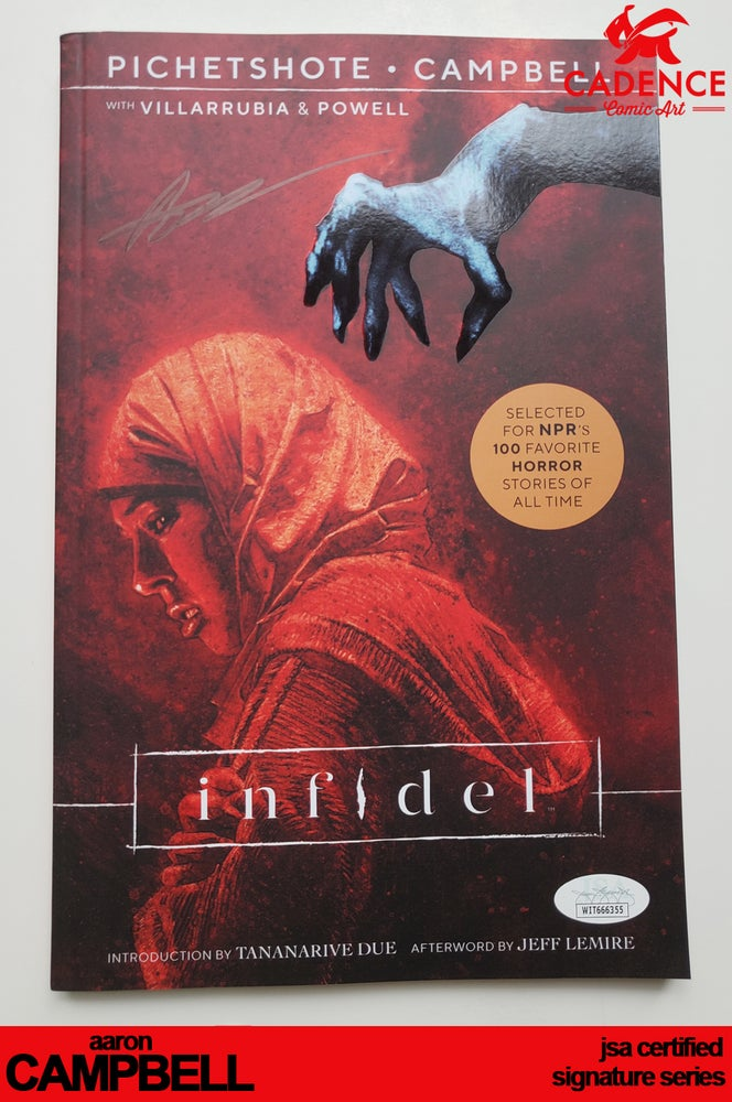 Image of Infidel - Trade Paperback Edition - Aaron Campbell Signature Series (JSA Certified)