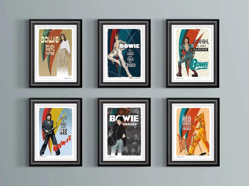 David Bowie Official Art Prints Set