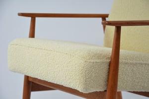 Image of Fauteuils FOX bouclette laine ivoire