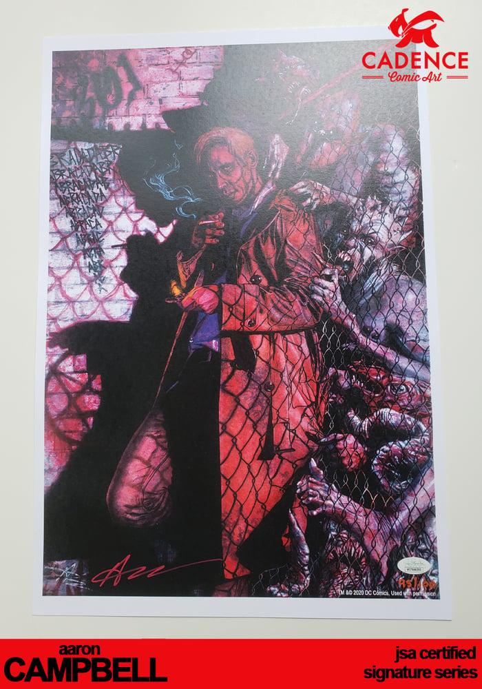 Image of Hellblazer Art Print - Aaron Campbell Signature Series (JSA Certified)