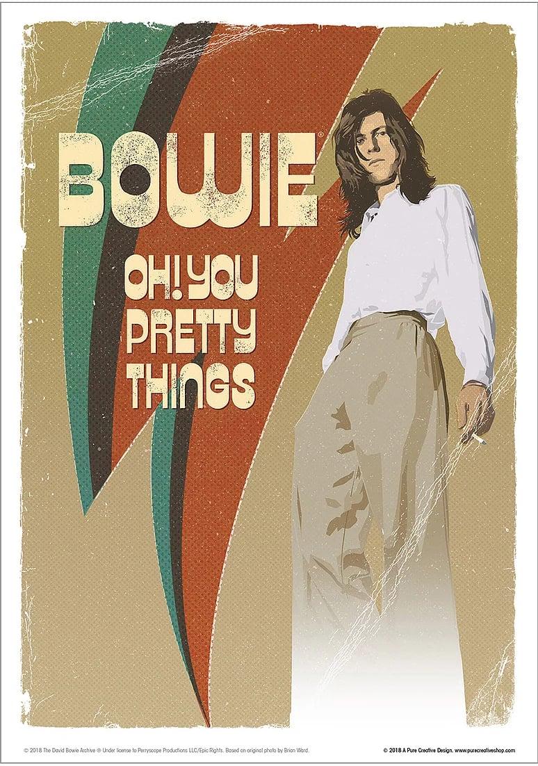 David Bowie Art Print – No. 1 'Hunky'